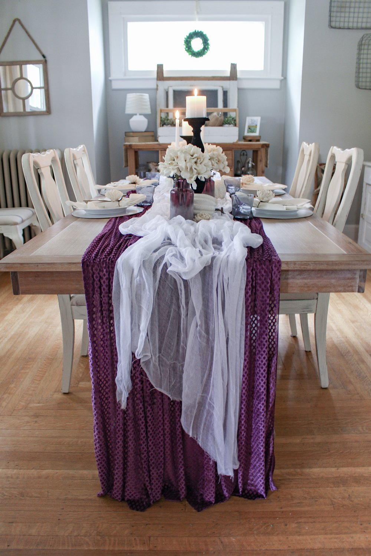 Mysterious fabric tablerunner