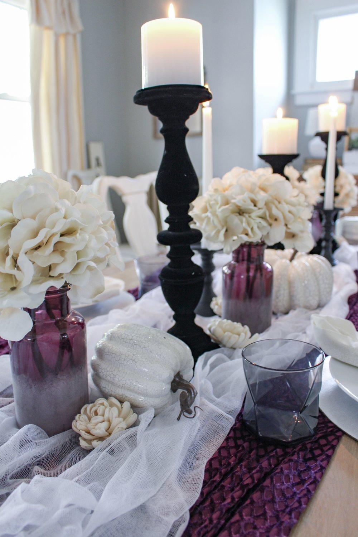 Velvet halloween candlesticks