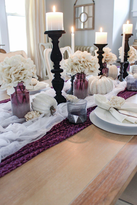 Halloween pumpkins and vases