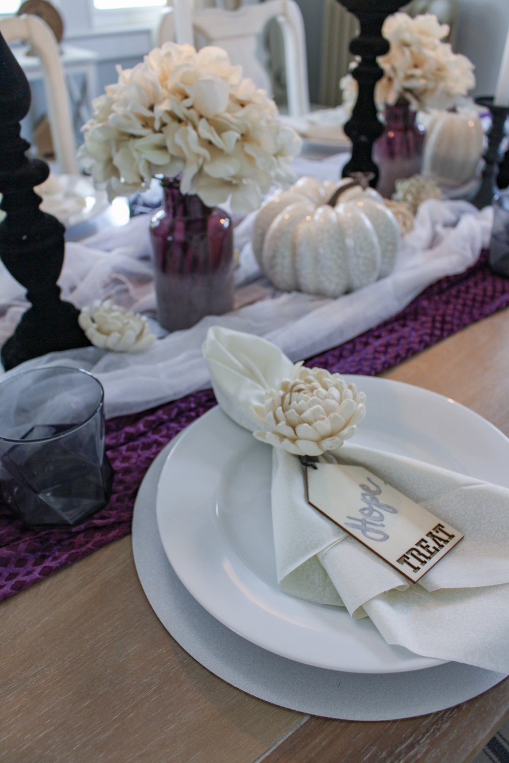 Halloween place setting
