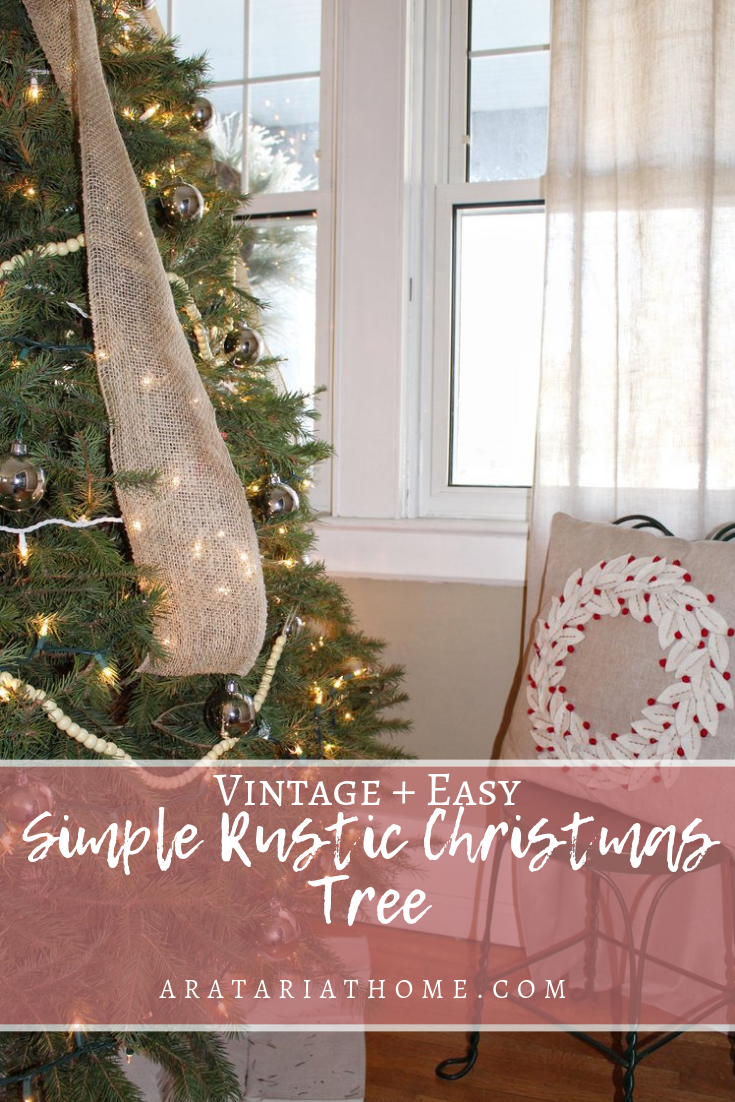 Simple Rustic Christmas Tree