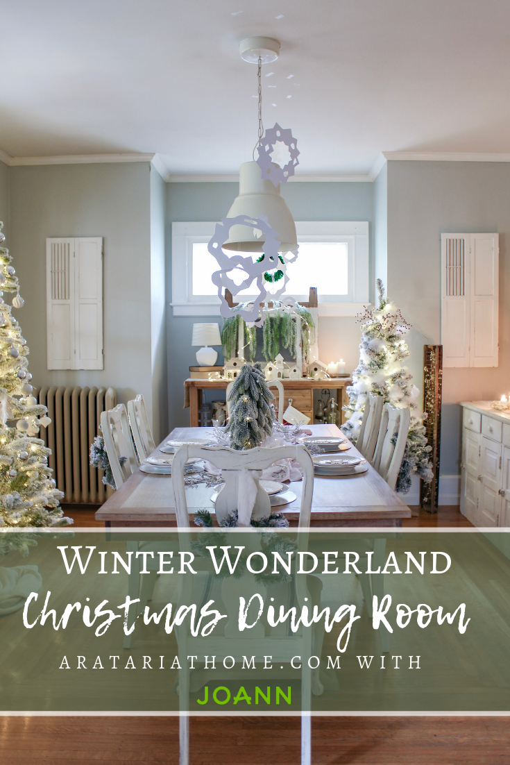 Winter Wonderland Christmas Dining Room