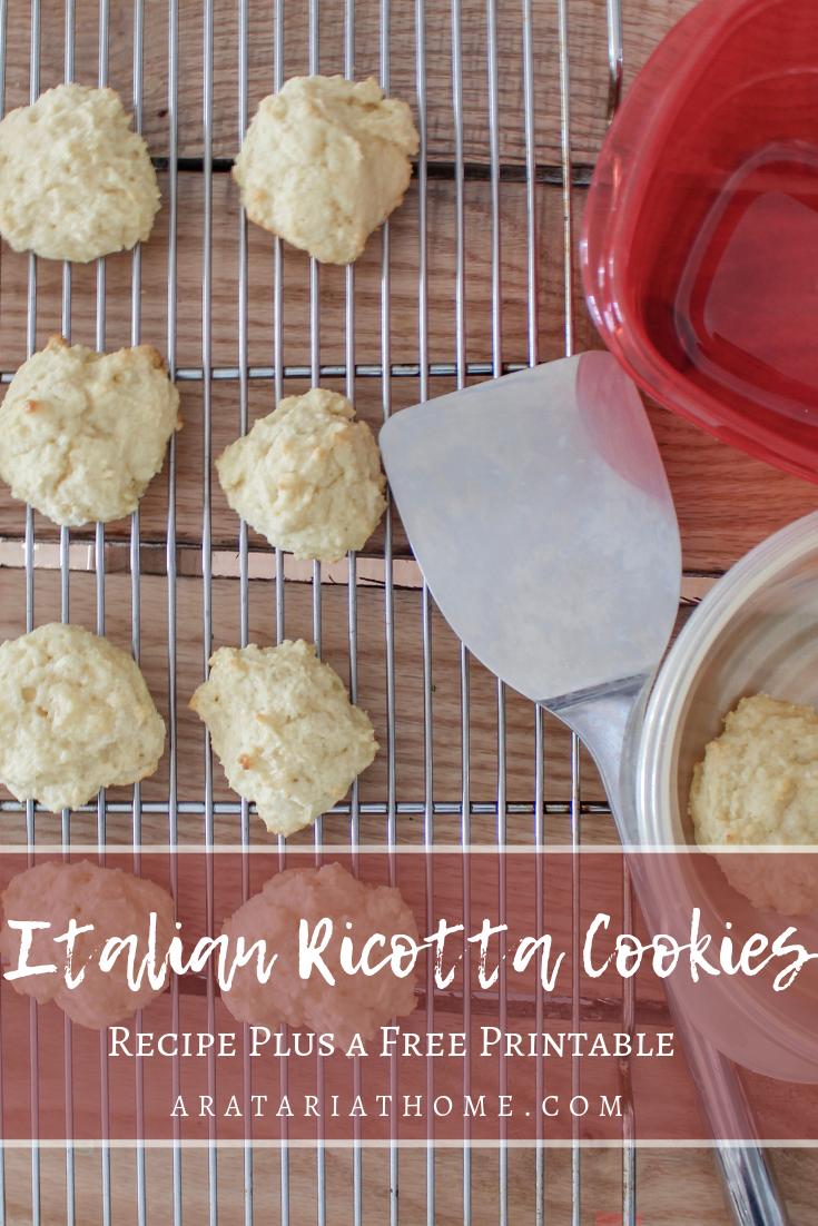 Italian Ricotta Cookies recipe
