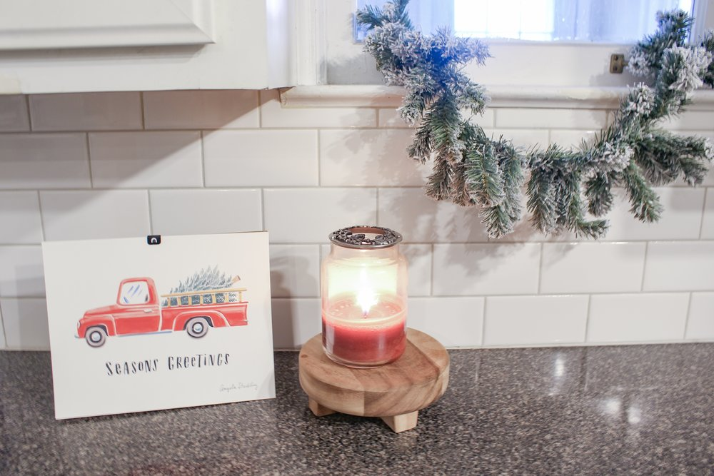 Christmas print in the kitchen
