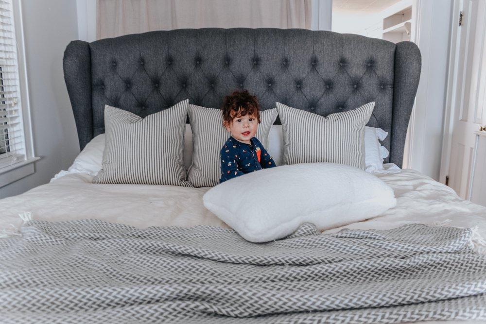 Dominic on the mattress