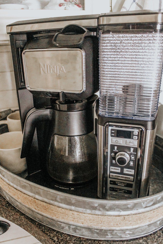 Ninja coffee bar close up