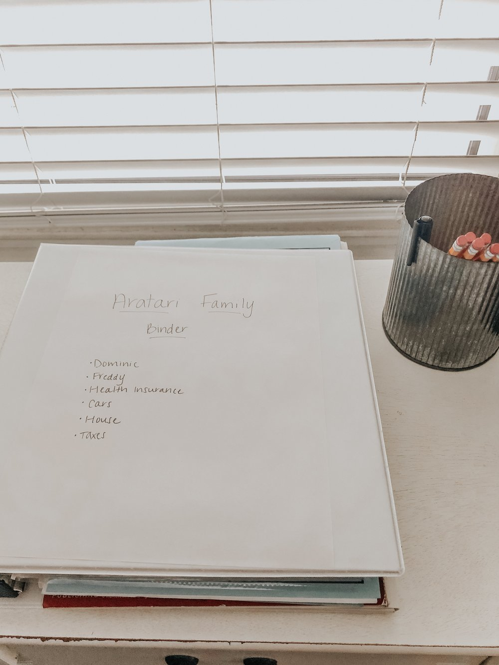 Paperwork organized