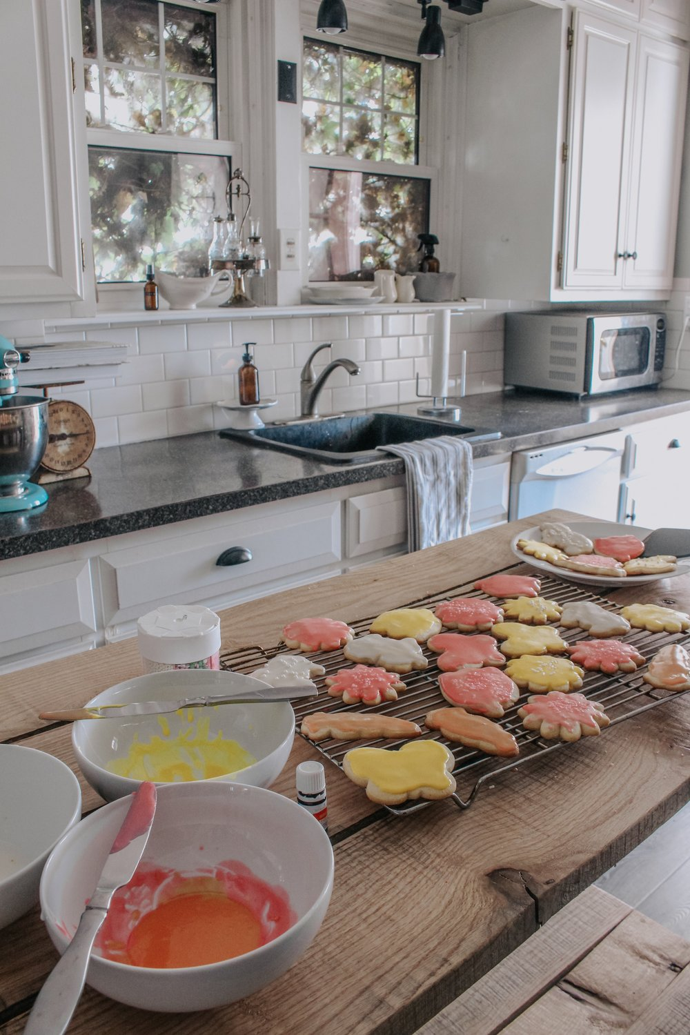 Icing the Orange Sugar Cookie Cut Outs