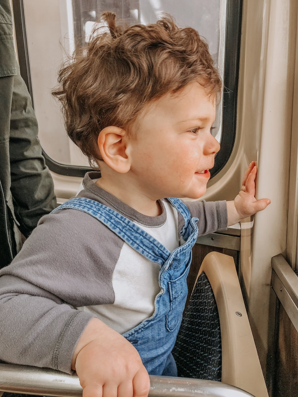 Dominic on the Train in Chicago