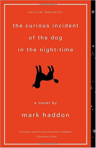 Curious Incident of the Dog in the Night-time    Christopher John Francis Boone, the 15-year-old autistic narrator of this widely lauded novel, is a brilliant and sensitive kid who feels a kinship with animals more than people. So when Wellington, a neighborhood dog, is mysteriously killed, Christopher is compelled to figure out who did it, documenting all his findings despite the discouragement from those around him