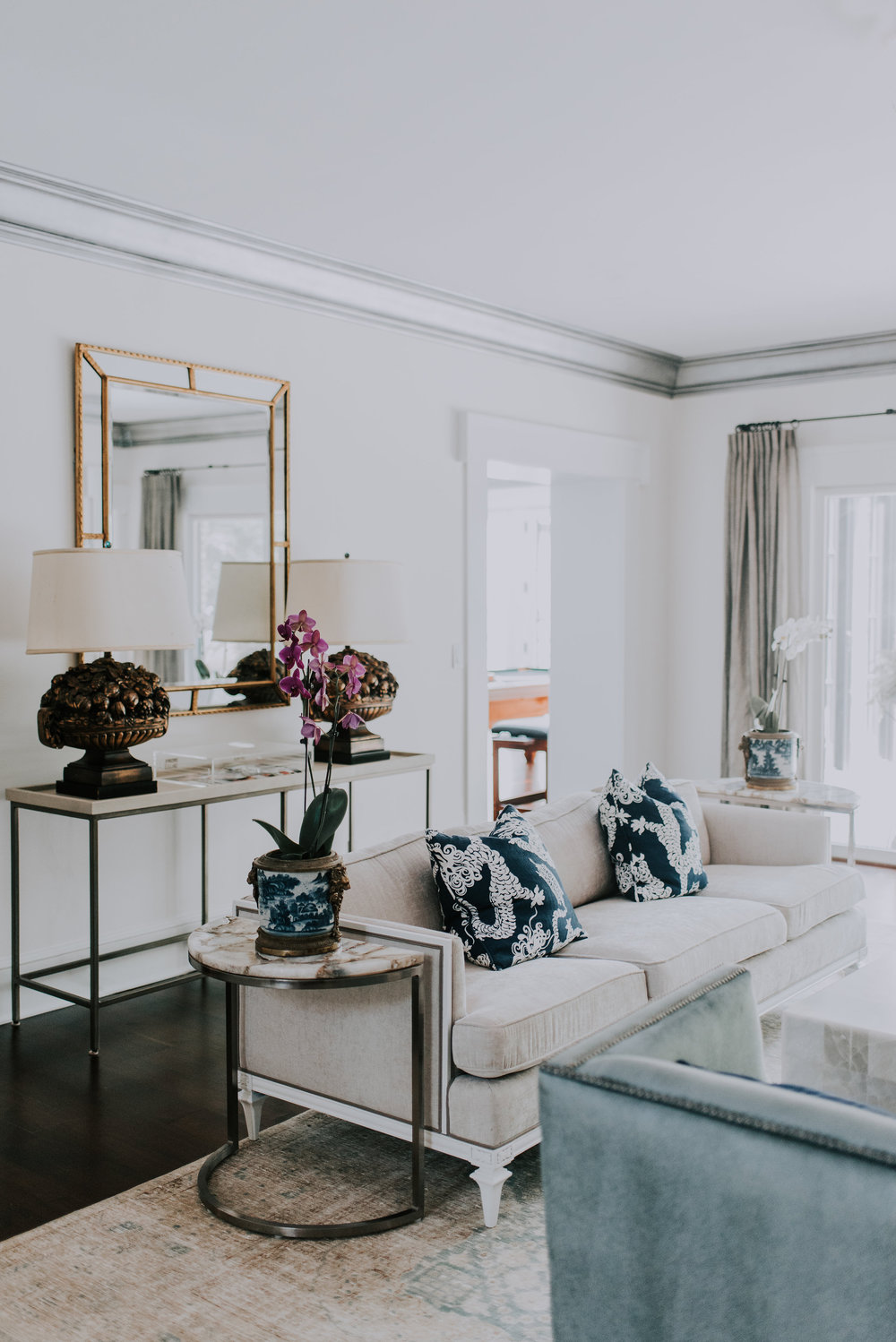 stonehill residence - classically composed An Ohio colonial becomes a French Provincial estate. The stonehill residence began 20 years ago when a friendship between the owner and designer, Dawn first bloomed.