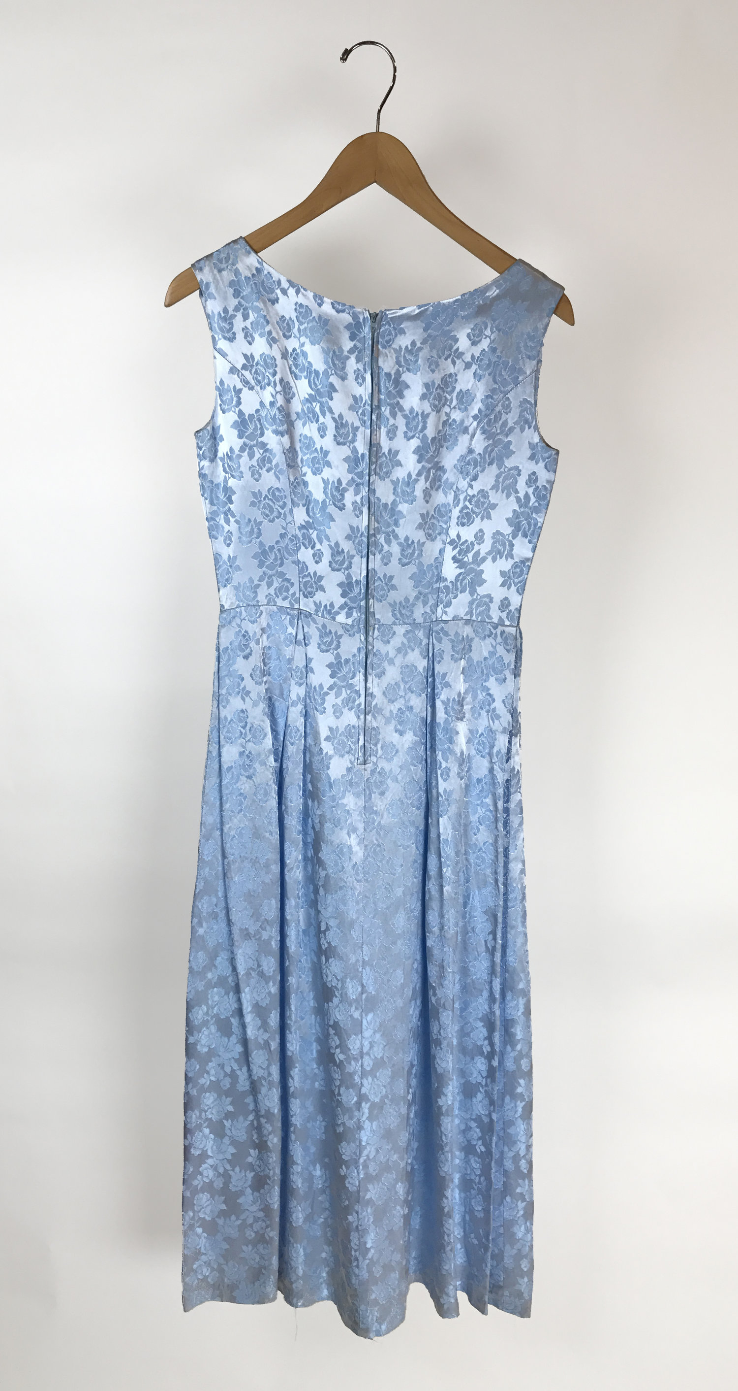 Light Blue Dress With Flowers Civvies Clothing Online