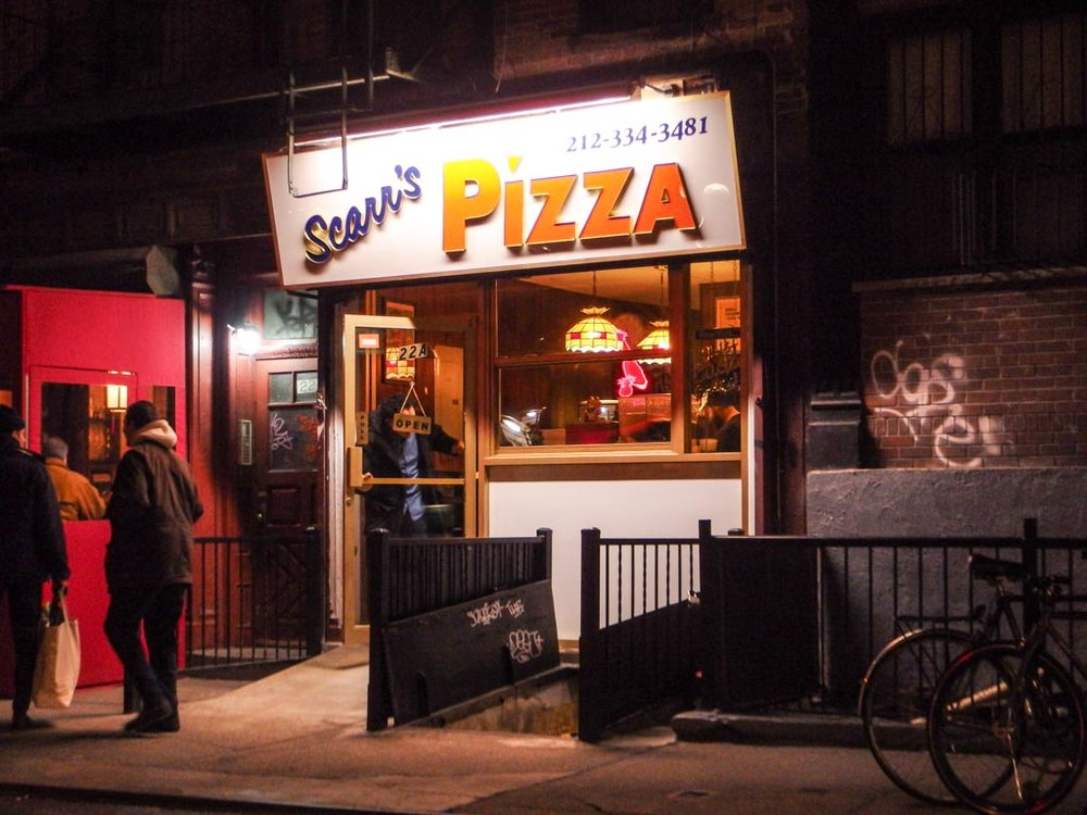 Scarr's Pizza    22 Orchard St