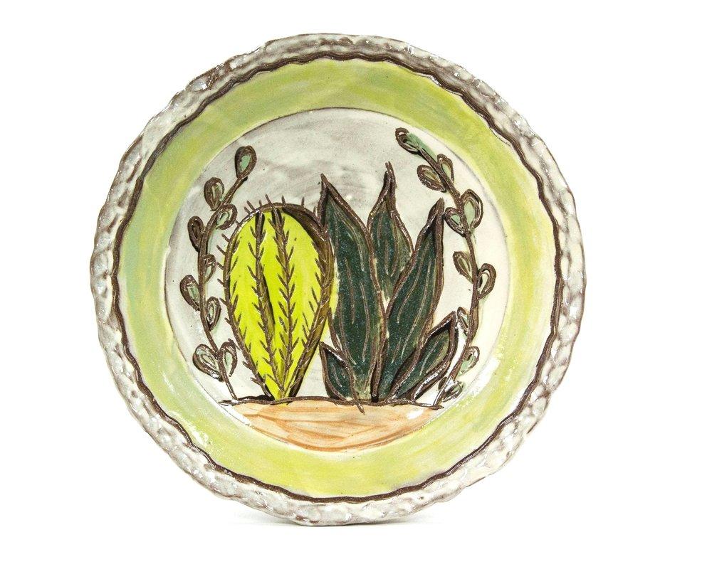 Succulent Platter, Terracotta, Δ3 Oxidation, 2018
