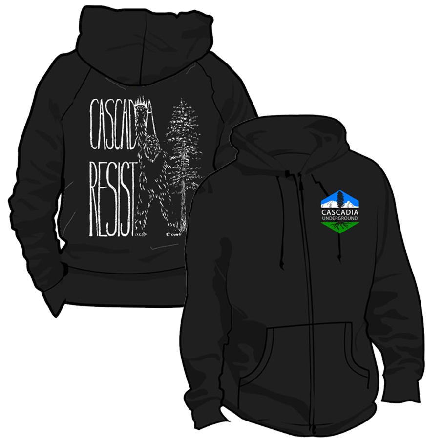 cascadia underground resist hoodie