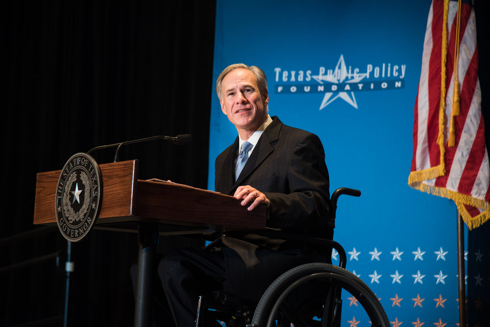 Governor Greg Abbott at Policy Orientation 2016.
