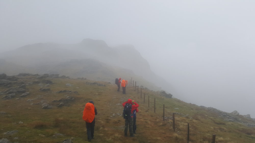 Misty day on Aran Fawddwy, October 2017