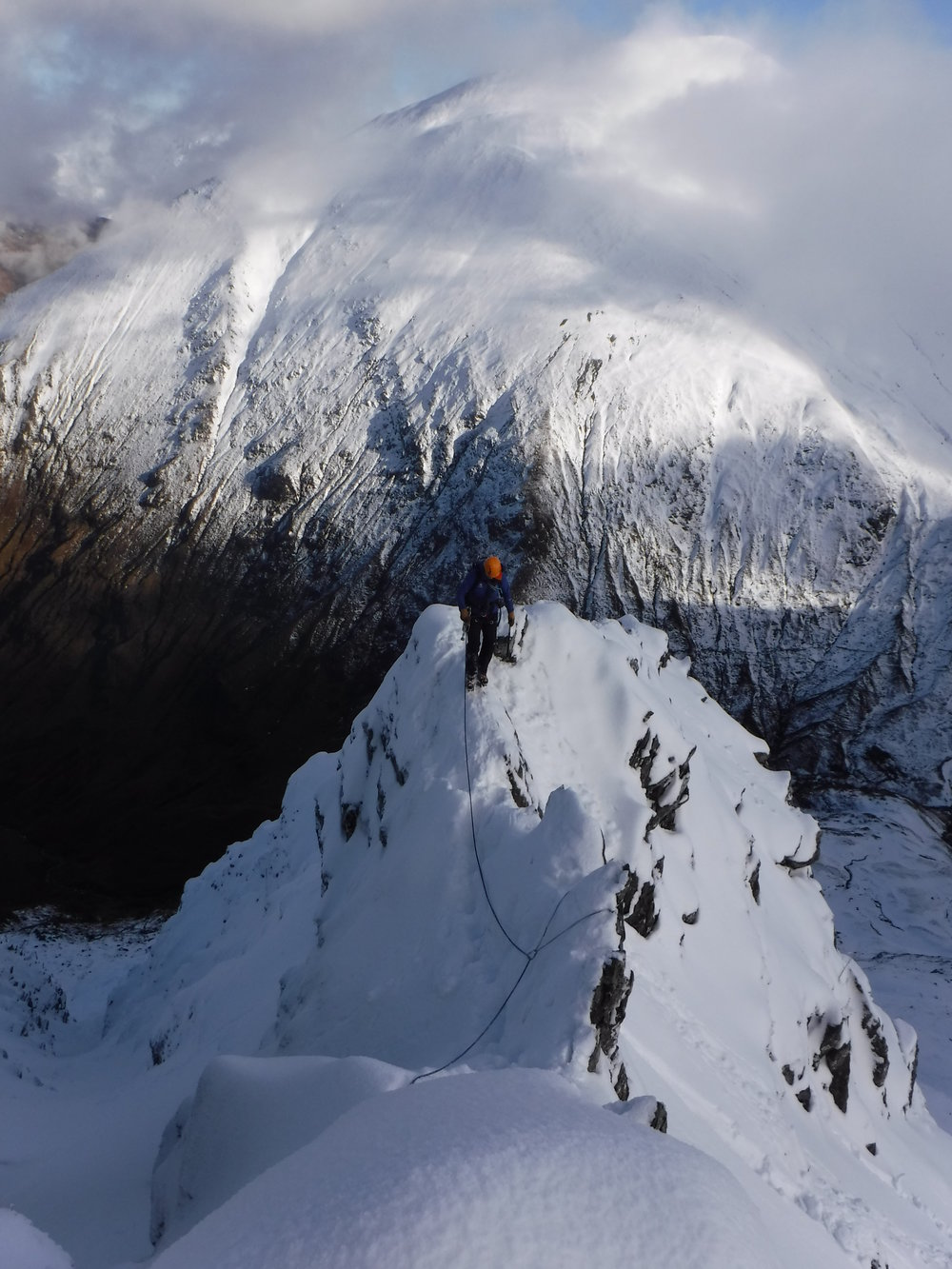 East buttress of the North Ridge of Stob Ban, II,3, February 2016
