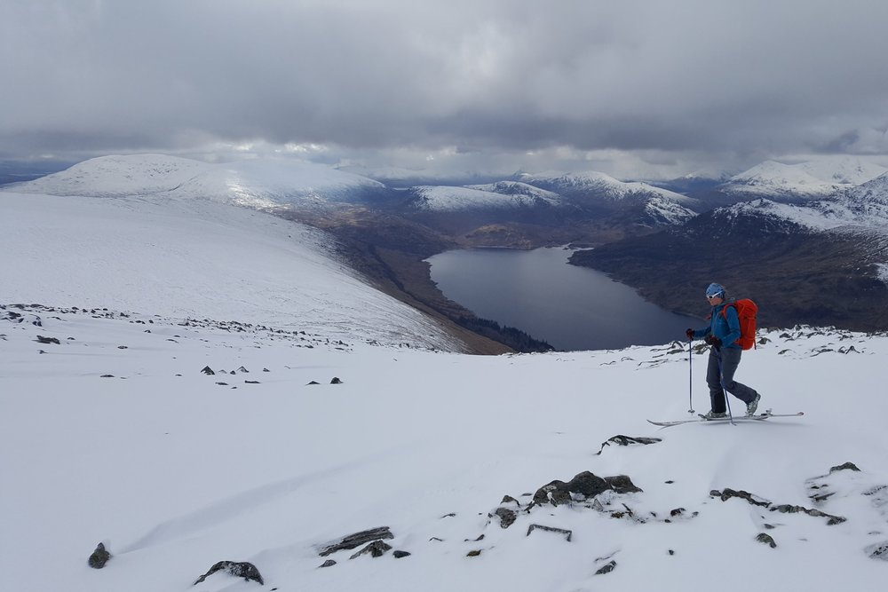Marchwas split down the middle in Scotland and Snowdonia. I went skiing, passed MIC (the top UK mountaineering and climbing qualification) and worked on a couple of ML trainings. - Scottish ski touring