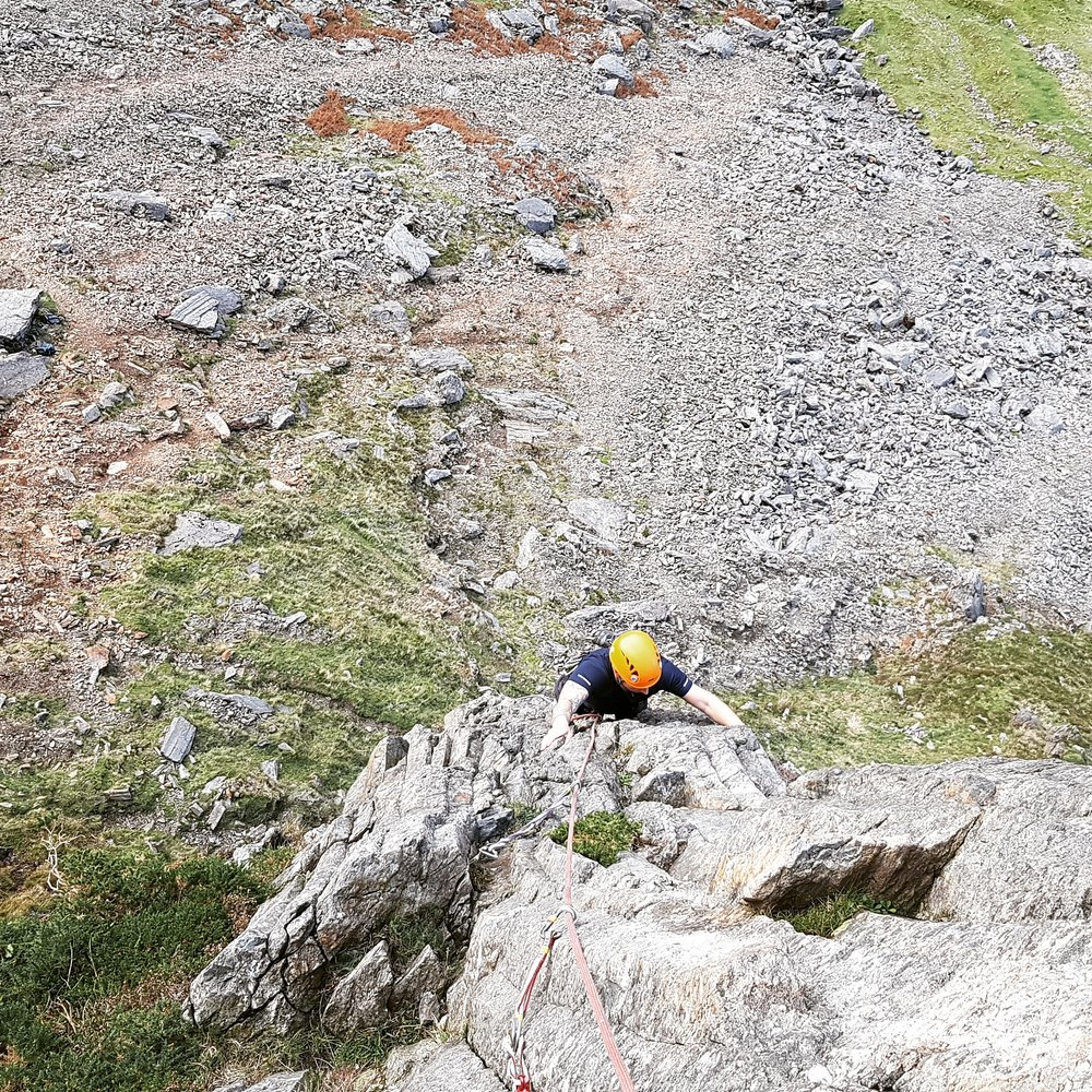 October as in 2017 this was by far the best month of my year for UK trad rock climbing, several days on the grit, lots of North Wales classics, some bolt clipping and a funky day out on Fantan B on the Lleyn. - Classic Pass guiding day