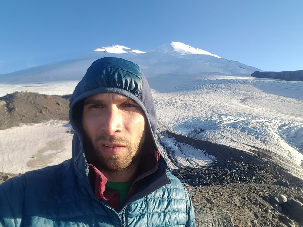 As an outer layer on Elbrus, Russia