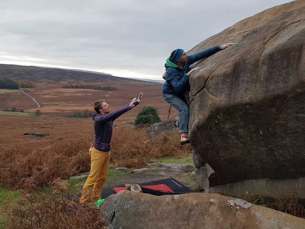 Peak autumn bouldering