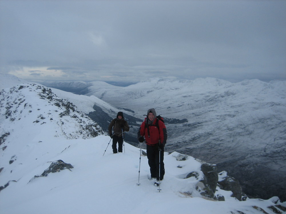 High above Glen Shiel