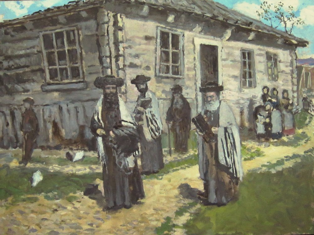 jewish themes - Paintings on Jewish subjects attempt to connect our time to my distant heritage in pre-revolutionary Russia. This connection has deep emotional resonance for me in terms of my roots and by connecting me back to the stories and land of my grandparents.