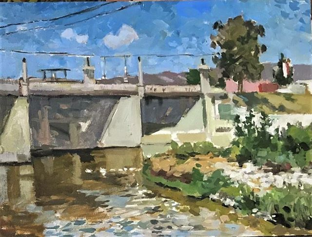 Frogtown. Los Angeles. Just painted this one. #boristyomkin #cityscape #landscapeart #landscapeartist #losangeles #losangelesart #losangelesartist #laart #laartist #lacityscape