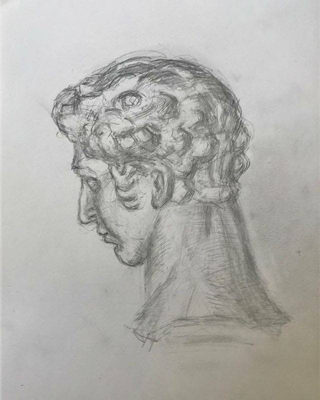 Another angle of Giuliano Medici by Michelangelo. #boristyomkin #giulianomedici #michelangelo #michelangelobuonarroti #academicart #academicdrawing #castdrawing #pencilsketch #pencildrawing #graphiteart #graphitedrawing #classicalart