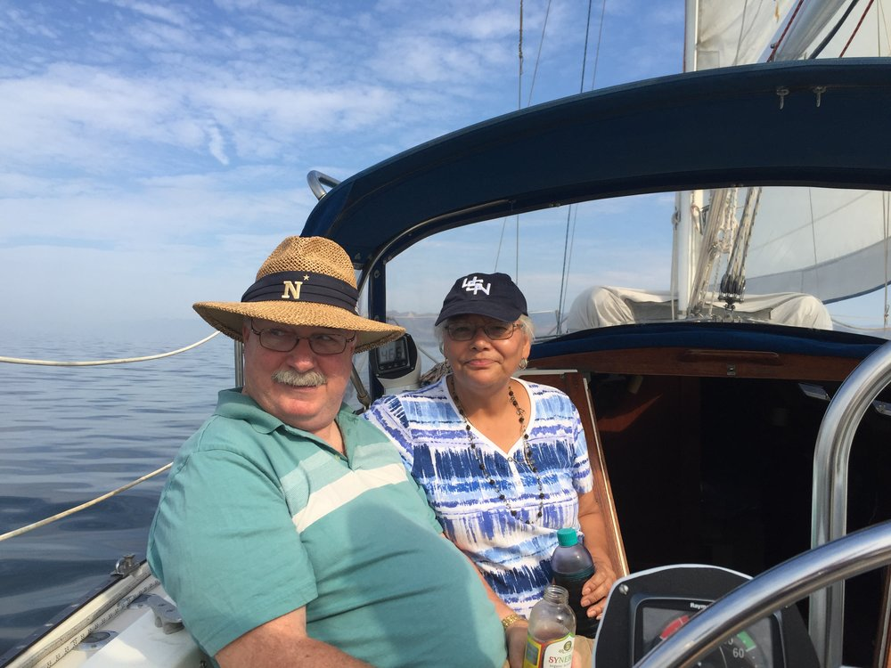 Parents came out for an anniversary cruise. Both sporting Navy gear!