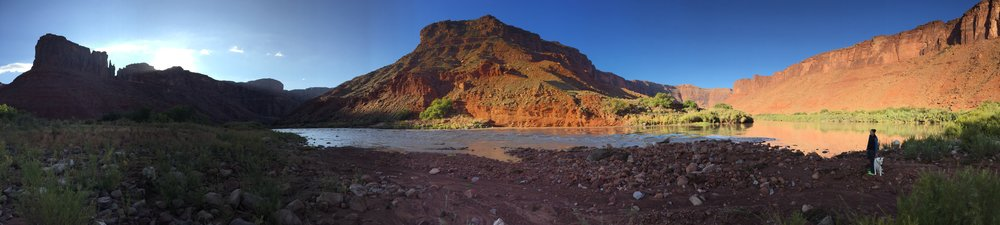 The awesome spot we found at the Colorado River Recreation area in Moab, Utah.