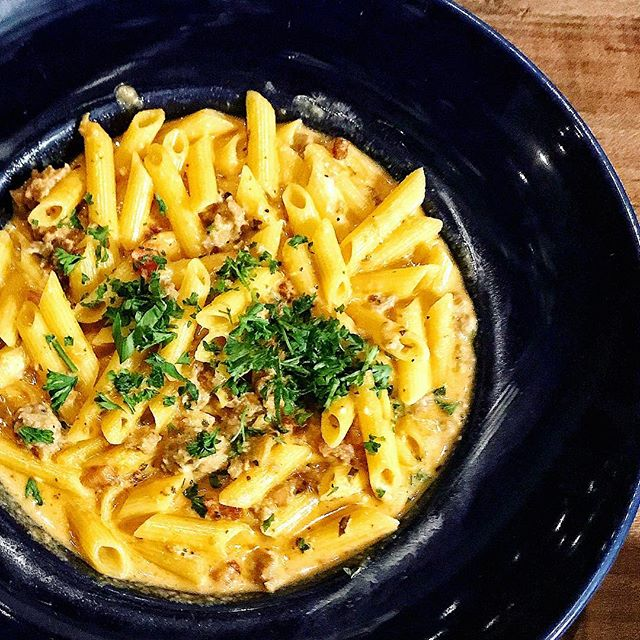 @mamaricottas penne alla vodka is what dreams are made of 🙌🏼 (pro tip: add sausage) 😋