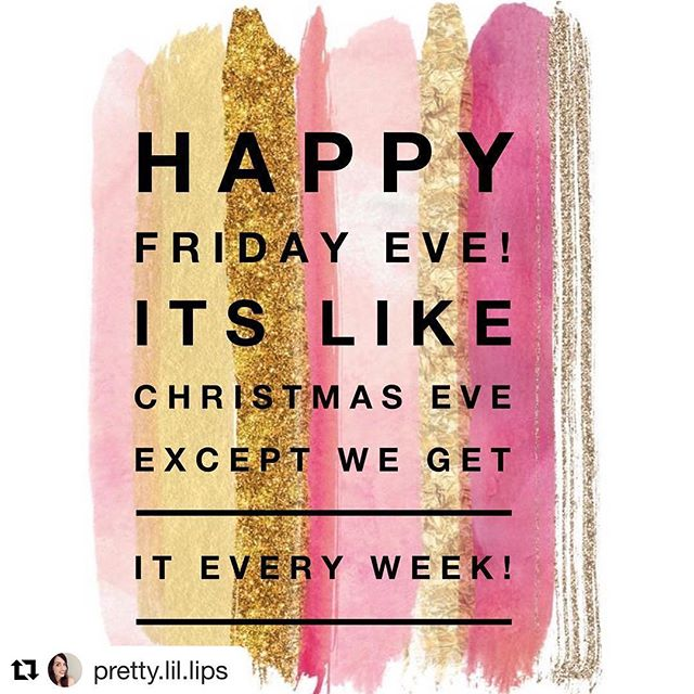 This just gave me the giggles, no brilliant sayings or remark just happiness  #Repost @pretty.lil.lips (@get_repost) ・・・ Yay!! #fridayeve