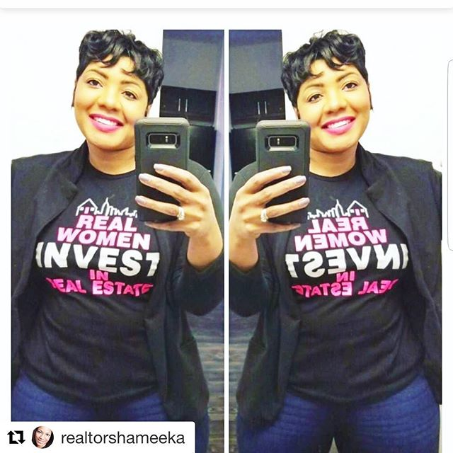 Thank you @mrsl_rice  for allowing me to assist you with your real estate needs and supporting me. You too can look fabulous in your real estate tee.  Www.realwomeninvest.org follow us @realwomeninvest #realwomeninvestinrealestate #homeowner #womeninvestorsrock #realestate #capitalstructuresrealestate