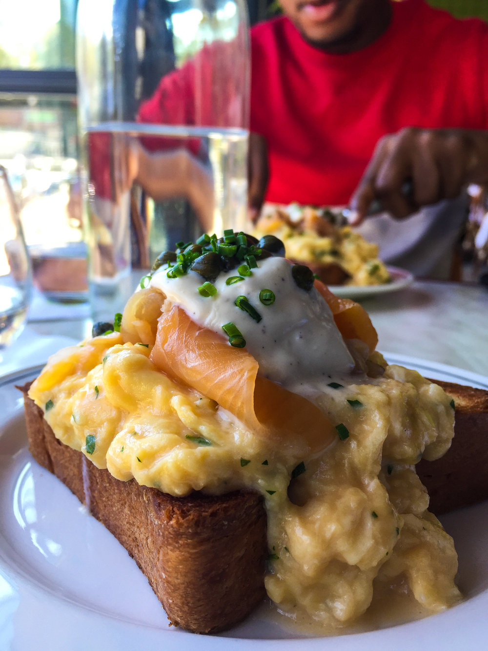 Soft Scrambled Eggs & Cold Smoked Trout from Bread & Butterfly - Crème Fraîche, Brioche.$14.00