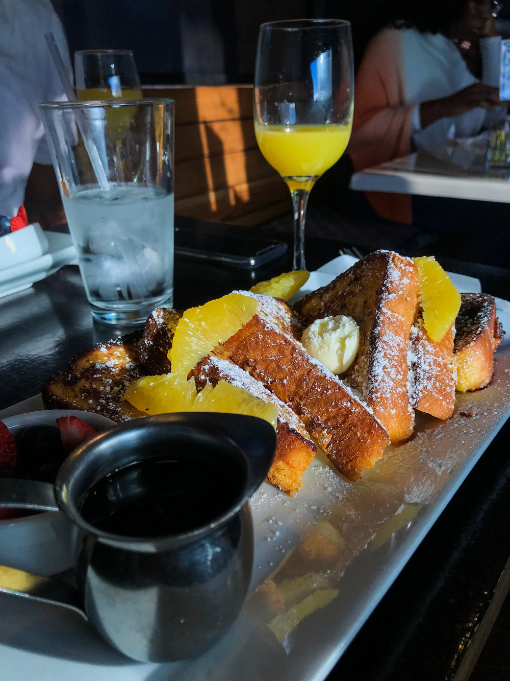 Grand Marnier French Toast from Eat This Cafe - With real maple syrup.$12.50