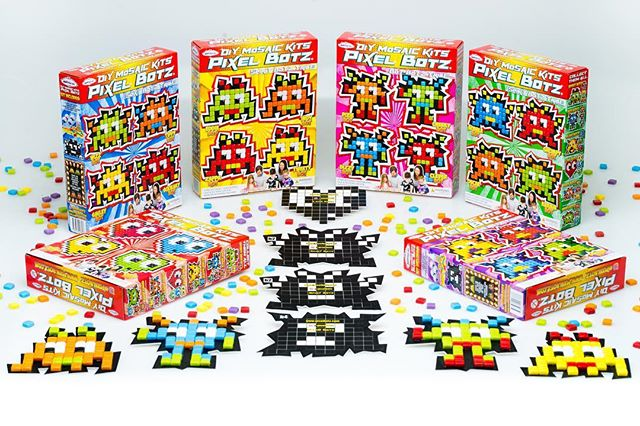 After a year of design and production on our much loved Pixel Botz, we are happy to say that they have finally hit the water and are making their way here to Australia for Christmas. We will be rolling out stock of the Botz to all Bunnings Warehouse stores for the December rush.  #pixelbotz #art #craft #craftkit #mosaic #retro #glass #mandalaart #bunnings #bunningswarehouse #diy #kids #fun #artbyjaja
