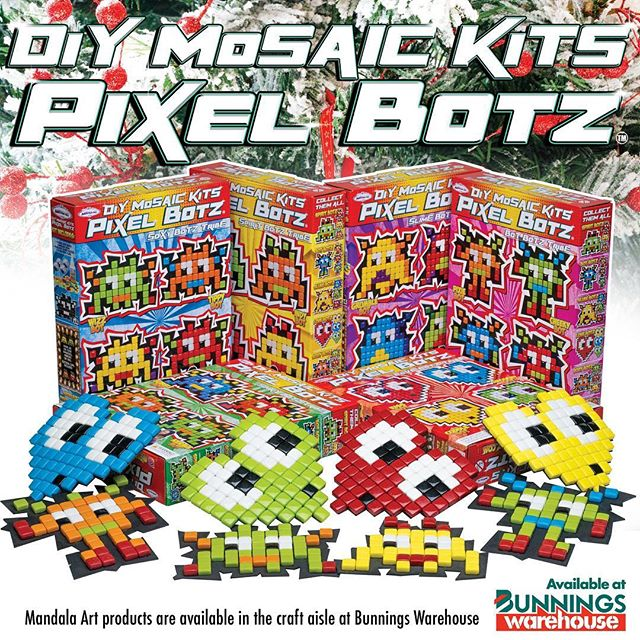 LOOKING FOR THAT PERFECT LAST MINUTE CHRISTMAS PRESENT TODAY?  Grab one of our PIXEL BOTZ MOSAIC KITS at $17.95 from all Bunnings warehouse stores. For more info visit https://www.bunnings.com.au/search/products?q=mandala%20art%20kits&redirectFrom=Any Have a very merry Christmas! #pixelbotz #art #craft #craftkits #mosaic #retro #glass #glassmosaic #bunnings #mandalaart #bunningswarehouse #diy #kids #kidskits #fun #holidays #holidayactivity