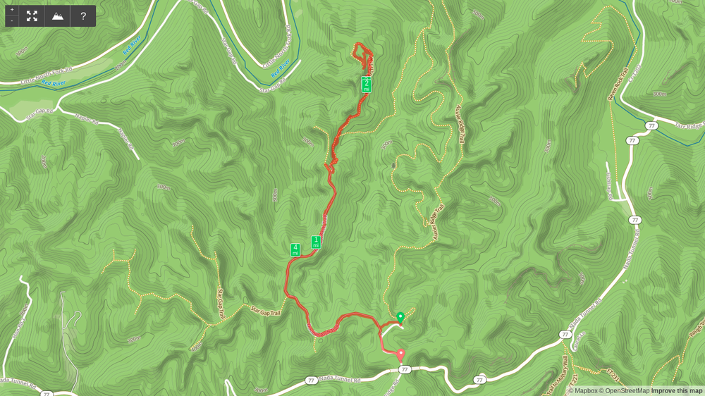 HIking map to Double Arch.