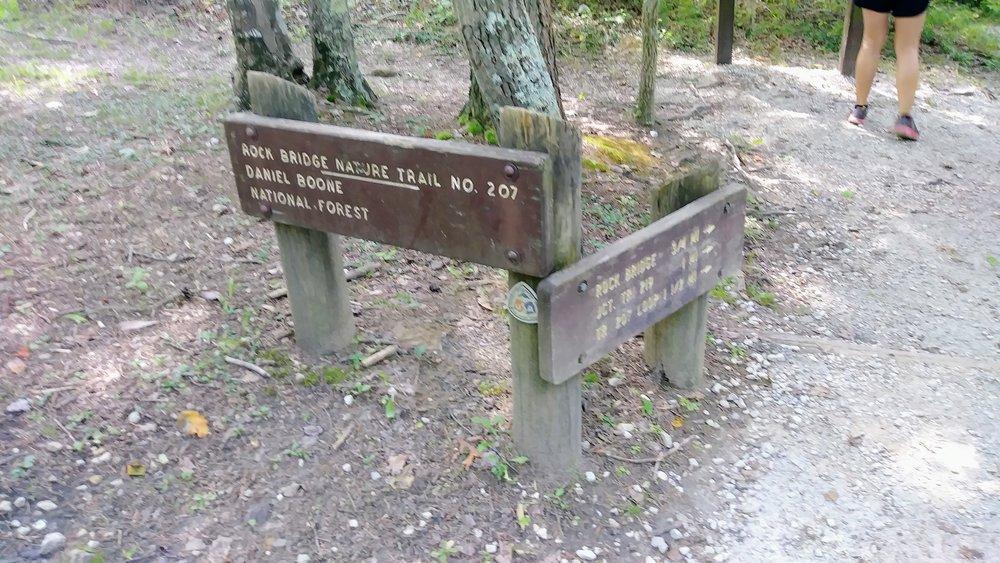 Signs at Rock Bridge Arch Trailhead