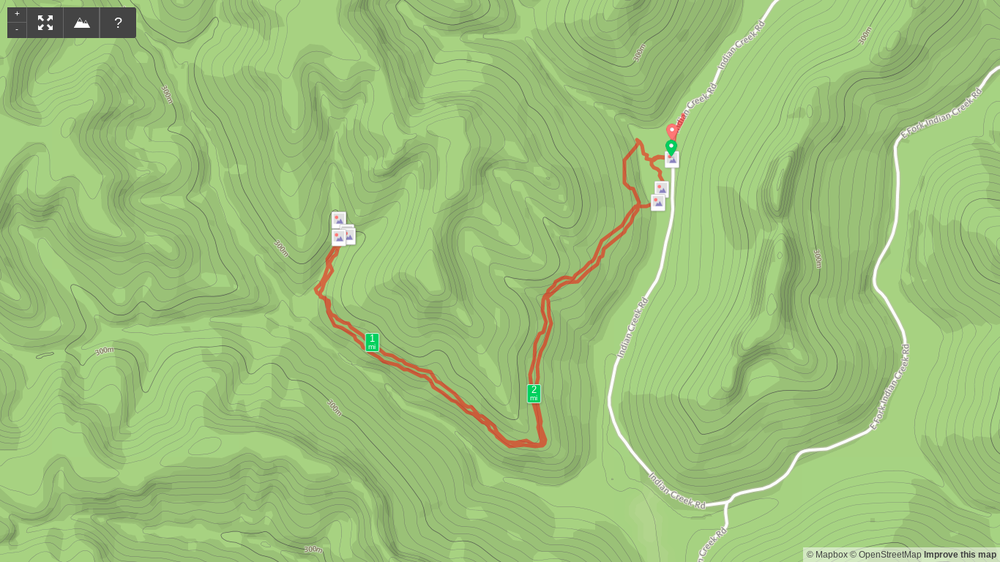 Map of Powder Mill Branch Trail to Wolfpen Arch