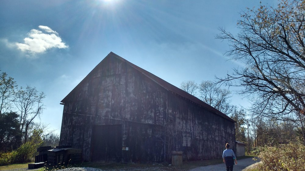Old barn at Raven Run Nature Sanctuary