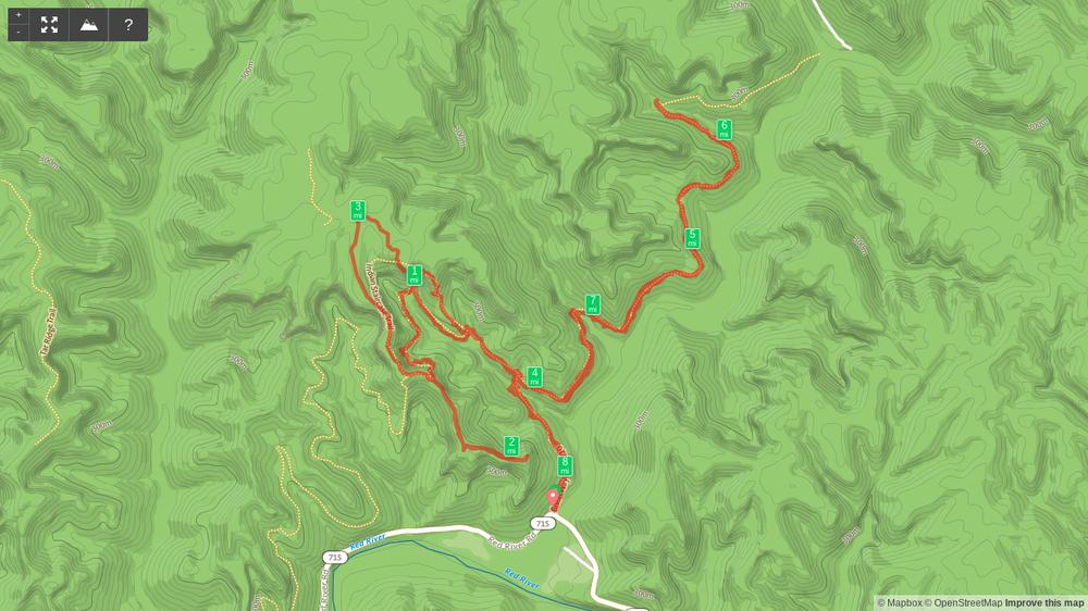 Map of Indian Staircase hike