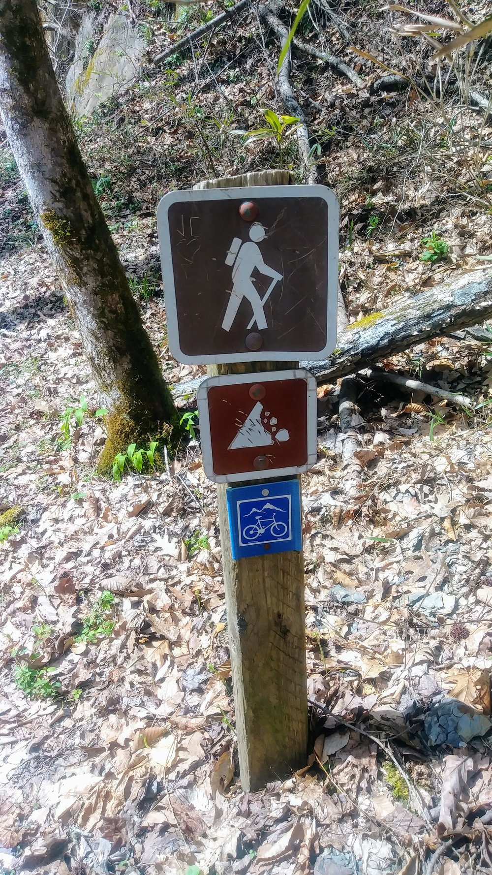 Open to hikers and bikers, but beware of falling rocks