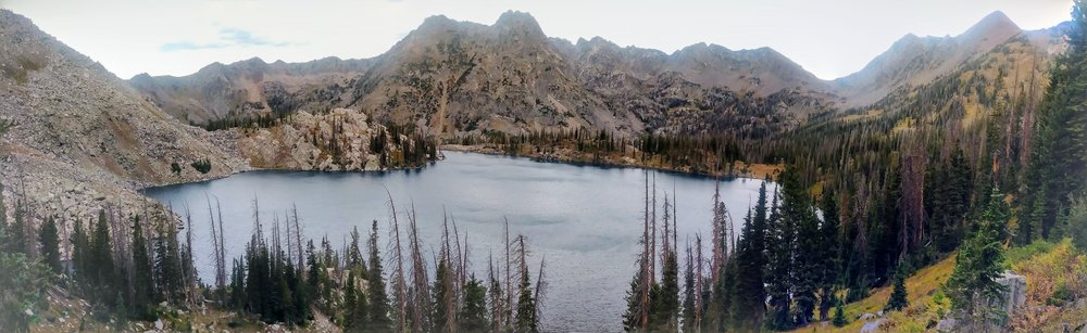 Gilpin Lake panorama in Zirkel Wilderness