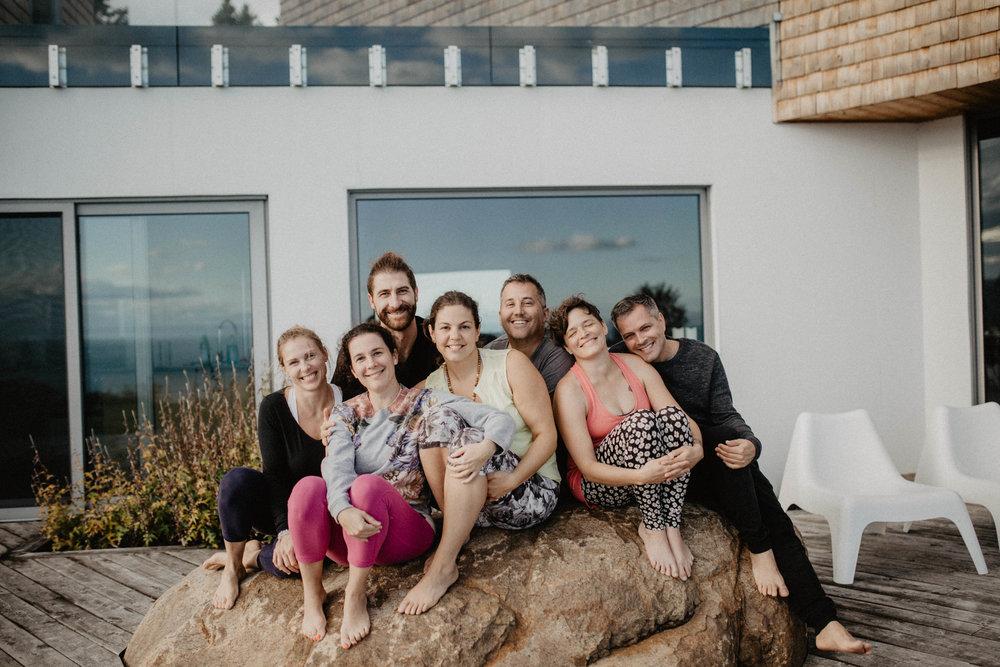 Photo de groupe séjour bien-être