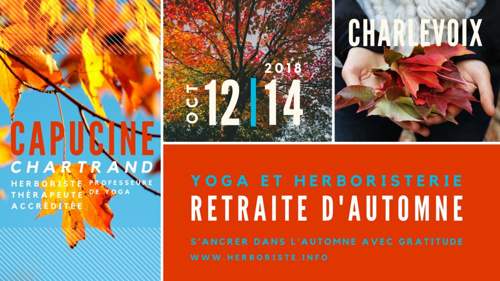 Bannière web Retraite d'automne yoga et herboristerie