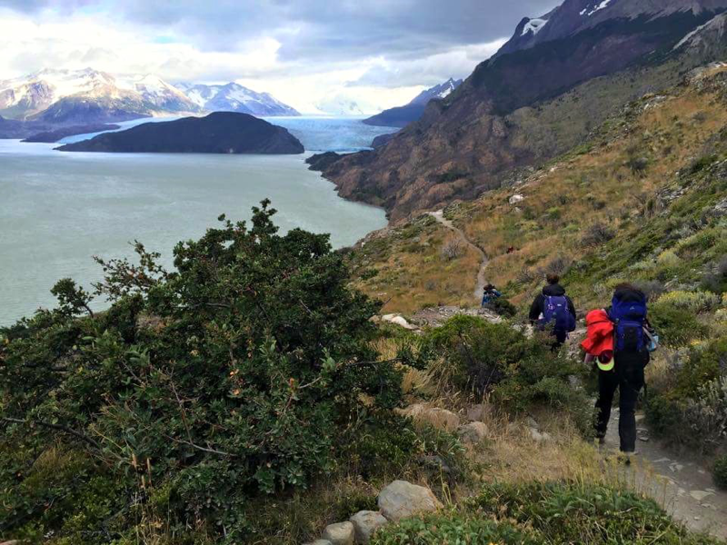 Trekking in Patagonia.  Photo credit: Scott Taylor.
