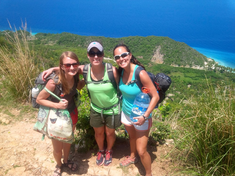 Hiking to a remote beach in Haiti.  Photo credit: Patrick Hardin.